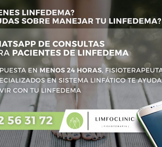 consulta de linfedema por whatsapp